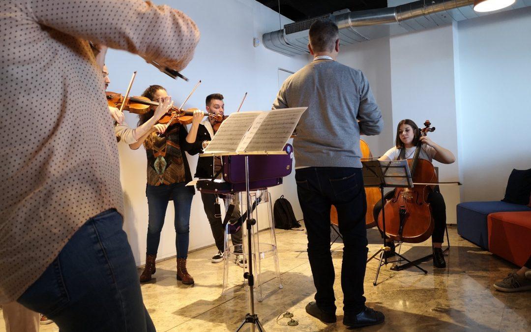 Presentación Barrios Orquestados en FundaciónSatocanJúnguel Sanjuán