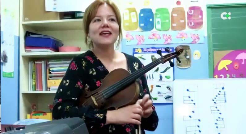 Laura Brito en el programa de TV Canaria 'Noveleros'